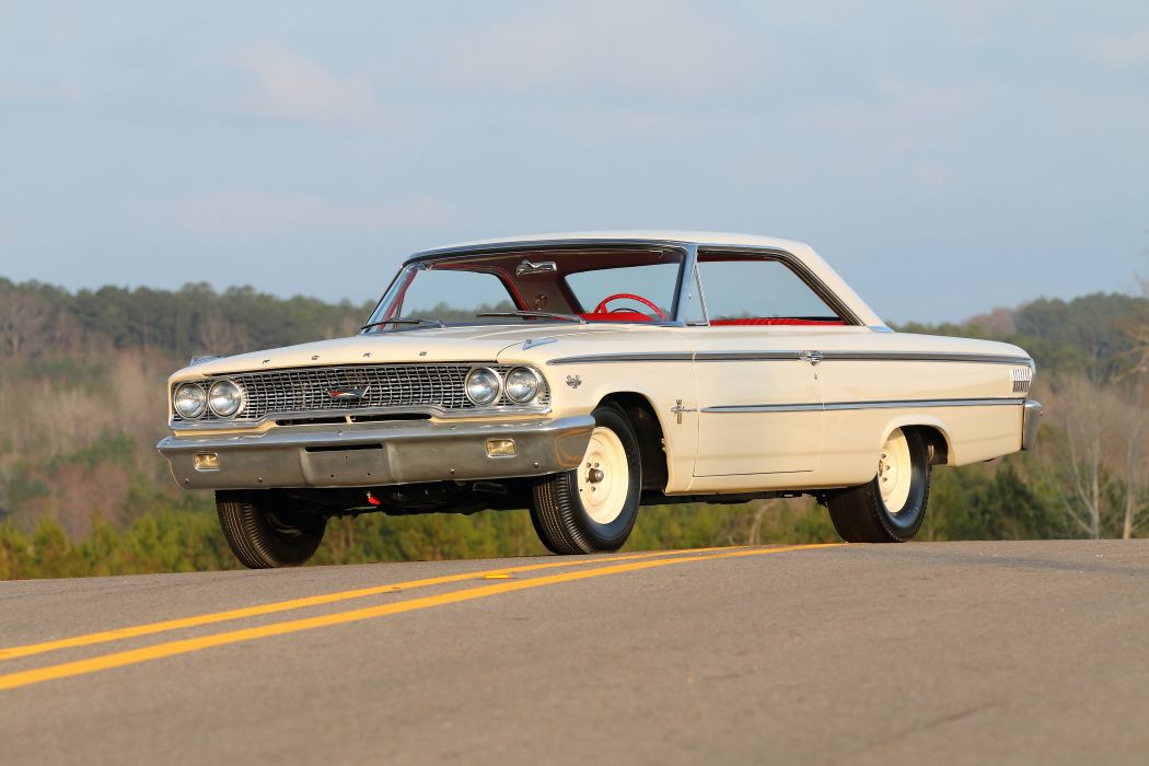 1963 Ford Galaxie 500 427 Lightweight Muscle Classic Old USA -01 wallpaper