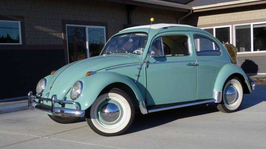 1963 Volkswagen Beetle Classic Old Retro -01 wallpaper
