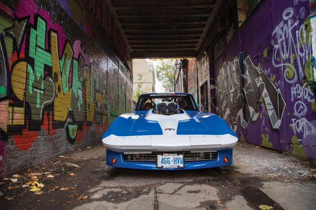 1966 Chevrolet Chevy Corvette Prostock Pro Stock Drag Race Dragster Blue USA-02 wallpaper