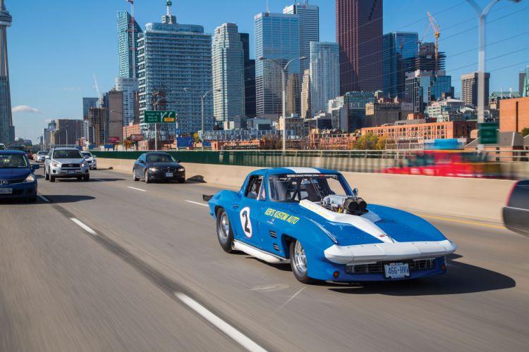 1966 Chevrolet Chevy Corvette Prostock Pro Stock Drag Race Dragster Blue USA-04 wallpaper
