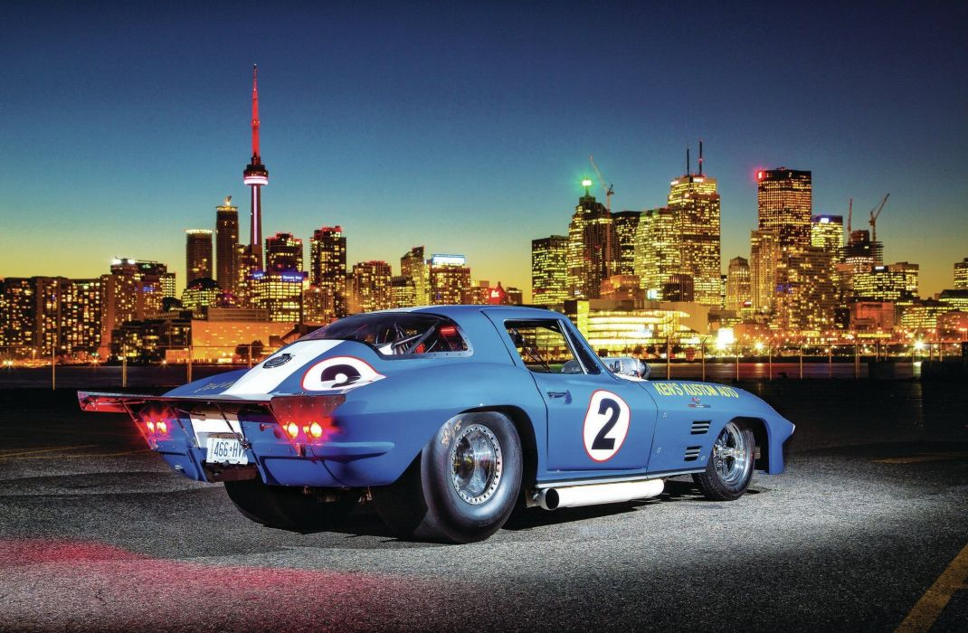 1966 Chevrolet Chevy Corvette Prostock Pro Stock Drag Race Dragster Blue USA-09 wallpaper