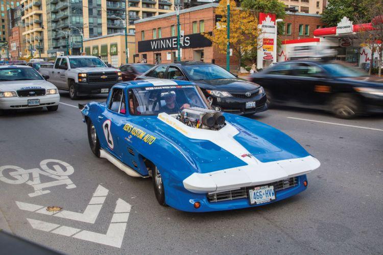 1966 Chevrolet Chevy Corvette Prostock Pro Stock Drag Race Dragster Blue USA-05 wallpaper