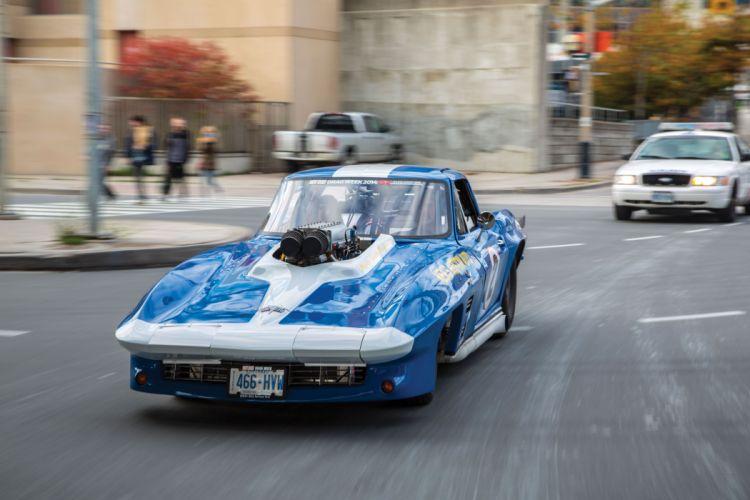 1966 Chevrolet Chevy Corvette Prostock Pro Stock Drag Race Dragster Blue USA-08 wallpaper