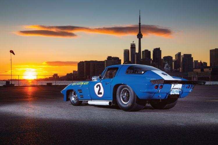 1966 Chevrolet Chevy Corvette Prostock Pro Stock Drag Race Dragster Blue USA-10 wallpaper