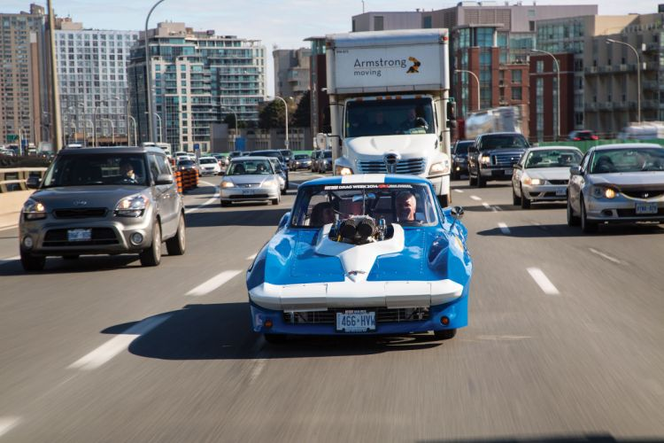 1966 Chevrolet Chevy Corvette Prostock Pro Stock Drag Race Dragster Blue USA-11 wallpaper