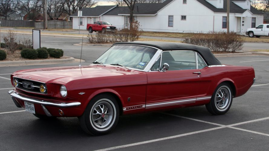 1966 Ford Mustang Convertible Muscle Classic Old Original USA -01 wallpaper