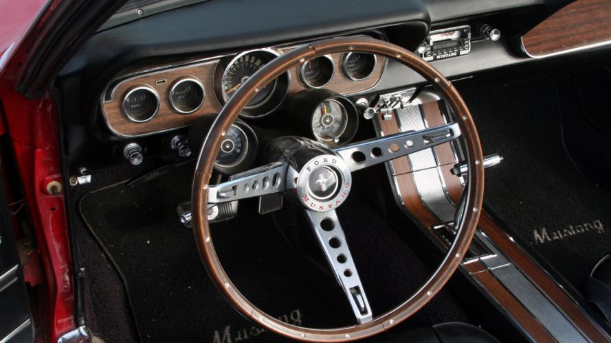 1966 Ford Mustang Convertible Muscle Classic Old Original USA -04 wallpaper