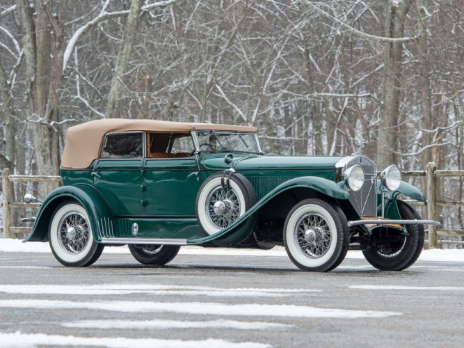Isotta Fraschini Tipo 8A Convertible Sedan by Floyd-Derham classic cars green 1929 wallpaper