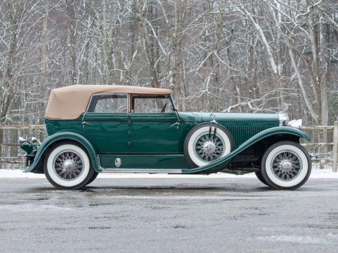 Isotta Fraschini Tipo 8A Convertible Sedan by Floyd-Derham classic cars green 1929 wallpaper