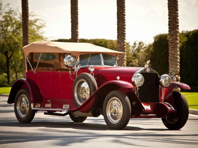 Isotta Fraschini Tipo 8 Torpedo Tourer classic cars red 1924 wallpaper
