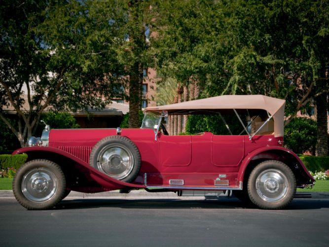 Isotta Fraschini Tipo 8 Torpedo Tourer classic cars red 1924 wallpaper