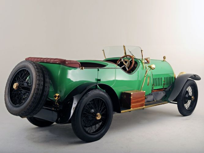 Isotta Fraschini Tipo KM Torpedo Tourer classic cars green 1913 wallpaper
