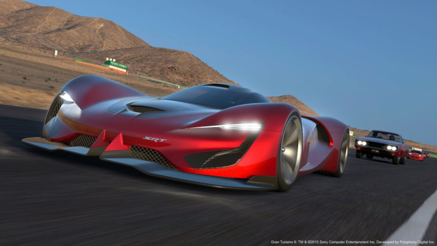 SRT Tomahawk Vision Gran Turismo cars supercars concept videogames 2015 wallpaper