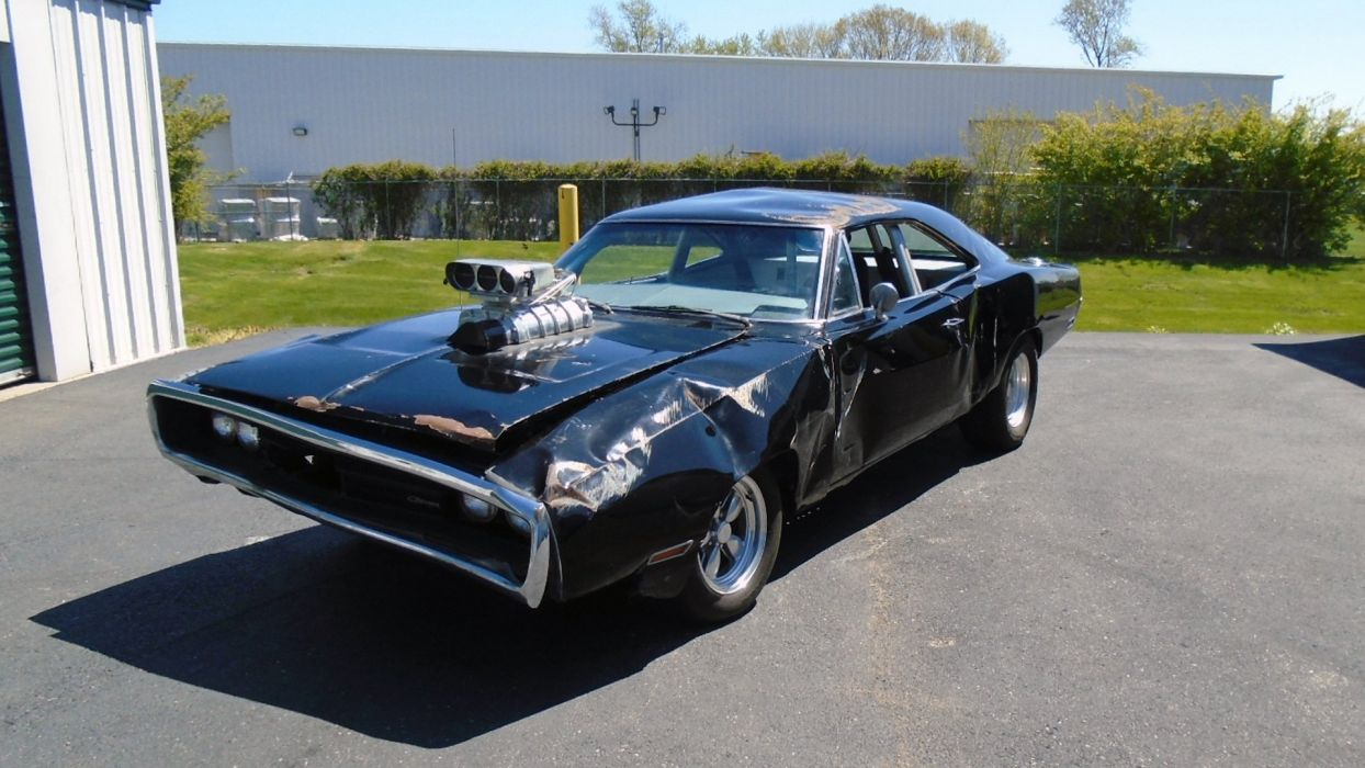 1970 Dodge Charger Fast And Furious Don crashed Muscle USA -01 wallpaper