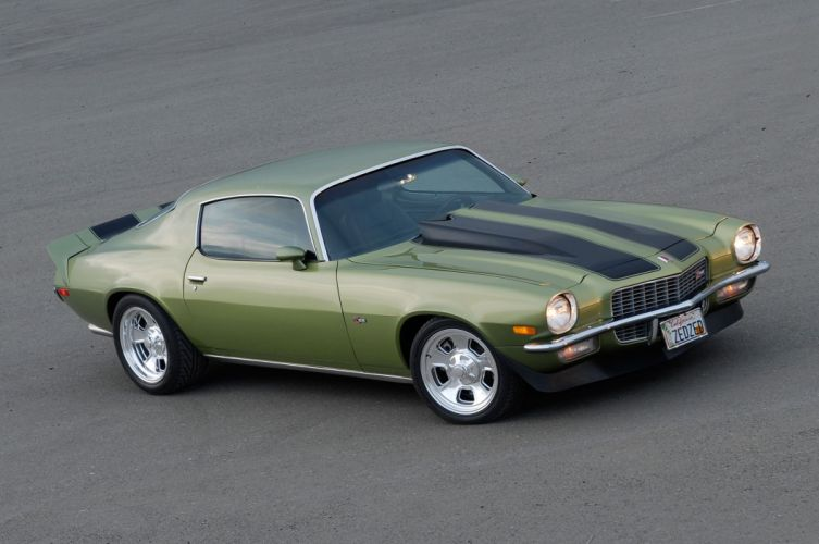 1971 Chevrolet Chevy Camaro Z28 Pro Touring Super Street Muscle USA -01 wallpaper