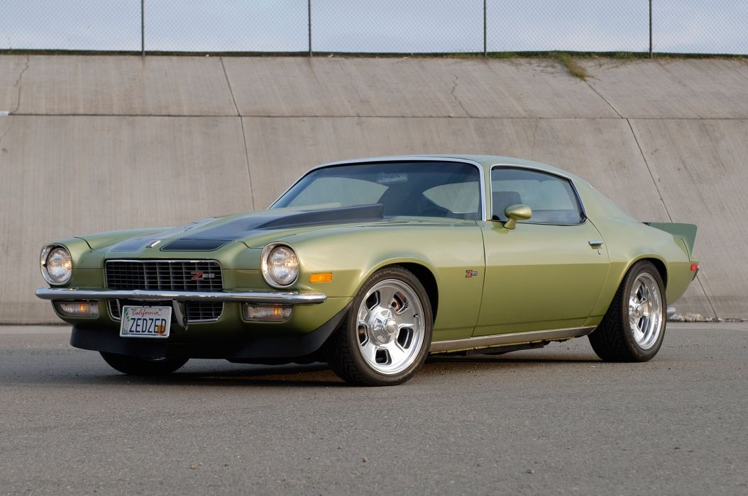 1971 Chevrolet Chevy Camaro Z28 Pro Touring Super Street Muscle USA -04 wallpaper