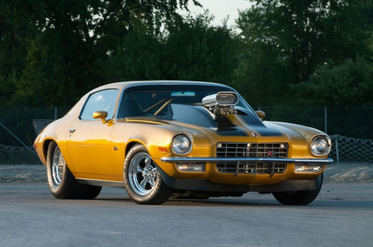 1972 Chevrolet Chevy Camaro Z28 Pro Super Street Muscle Drag USA -01 wallpaper