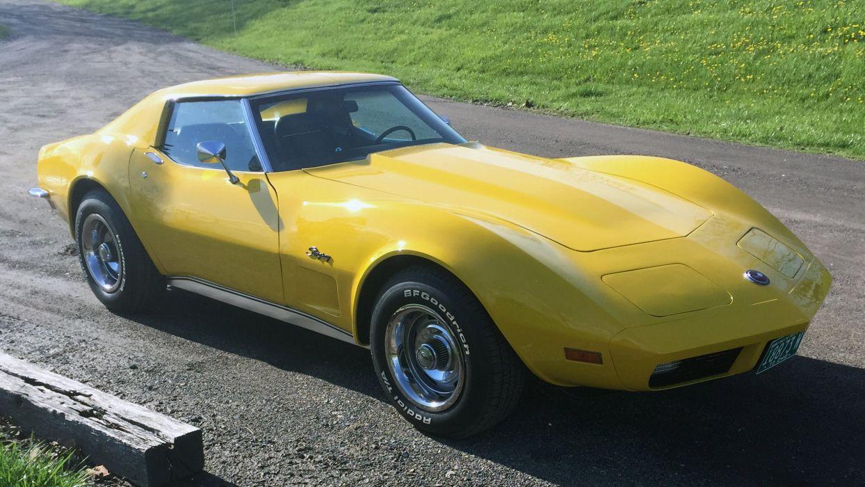 1973 Chevrolet Corvette Stingray Muscle Classic Old Original USA -01 wallpaper