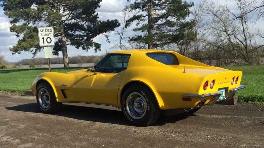 1973 Chevrolet Corvette Stingray Muscle Classic Old Original USA -03 wallpaper