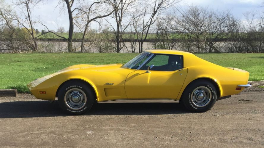 1973 Chevrolet Corvette Stingray Muscle Classic Old Original USA -09 wallpaper