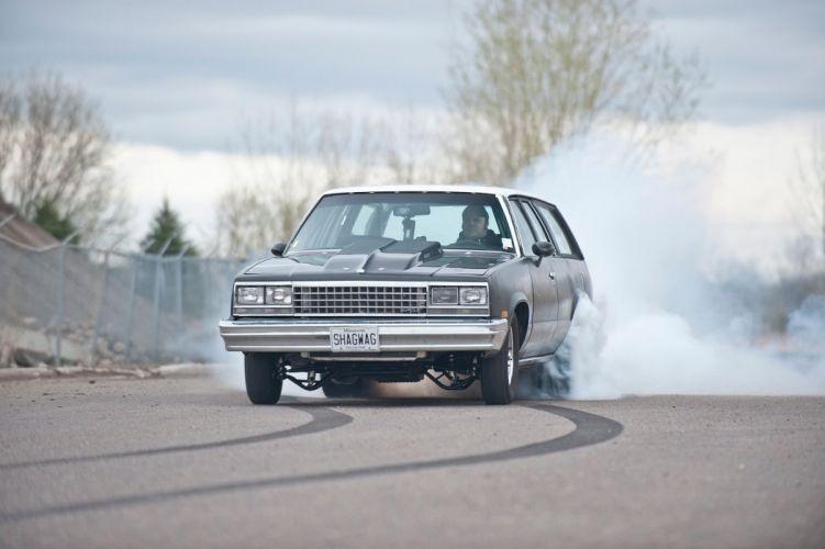 1983 Chevrolet Chevy Malibu Drag Street Super Outlaw Burnout USA -01 wallpaper