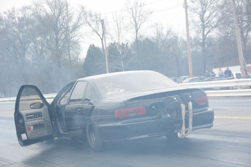 1996 Chevrolet Impala SS Outlaw Drag Dragster Race Burnout USA-03 wallpaper