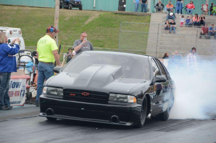 1996 Chevrolet Impala SS Outlaw Drag Dragster Race Burnout USA-02 wallpaper