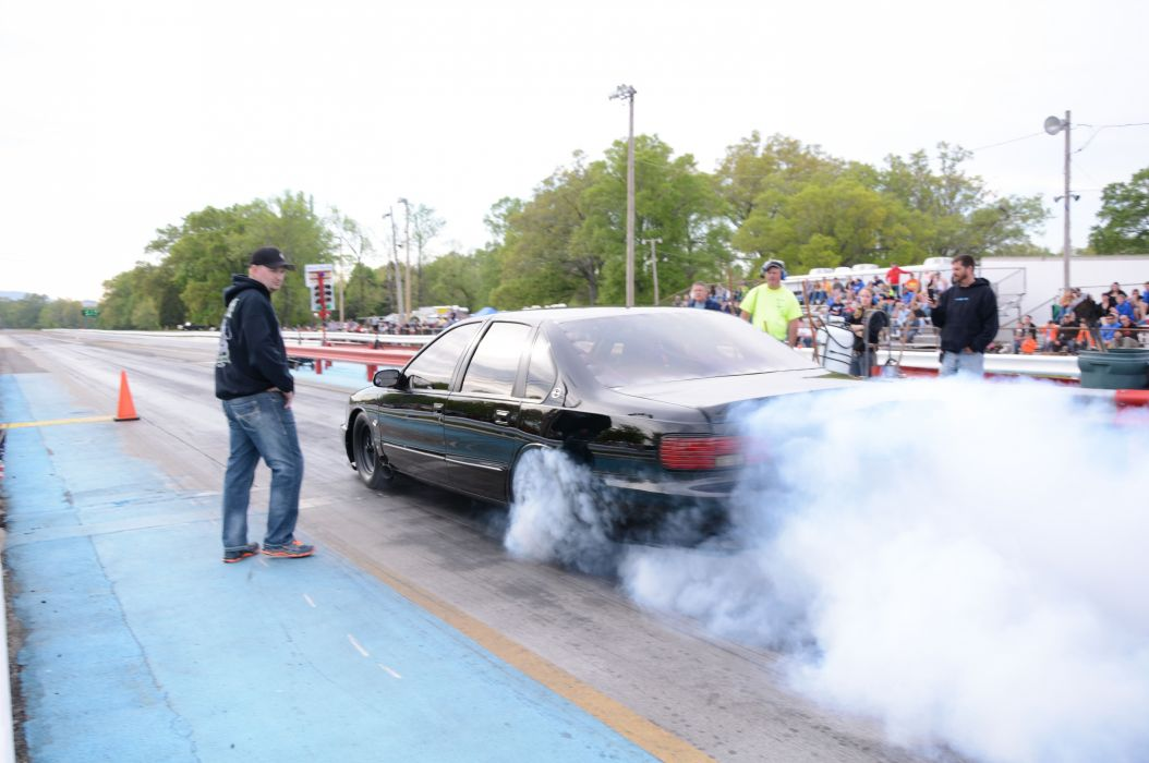 1996 Chevrolet Impala SS Outlaw Drag Dragster Race Burnout USA-04 wallpaper