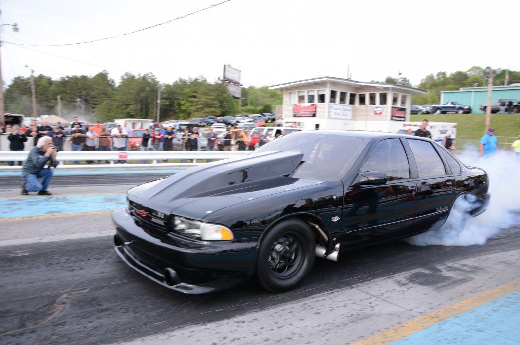 1996 Chevrolet Impala SS Outlaw Drag Dragster Race Burnout USA-06 wallpaper