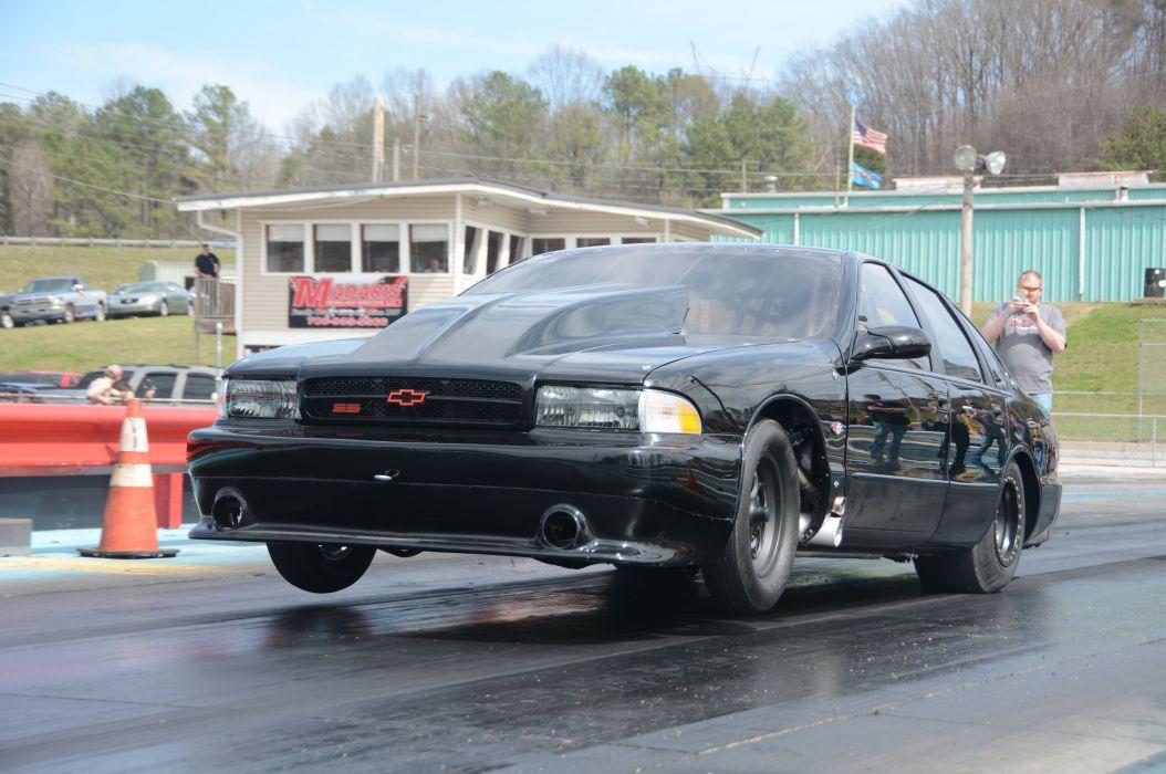 1996 Chevrolet Impala SS Outlaw Drag Dragster Race Wheelie USA-09 wallpaper