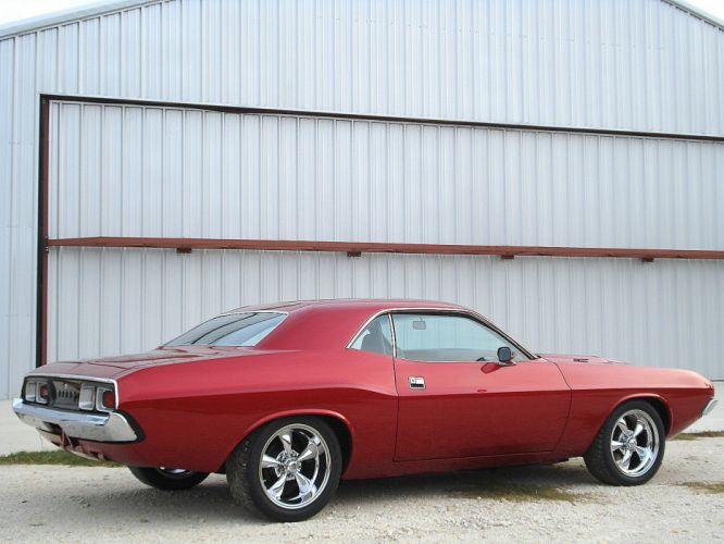 1973 Dodge Challenger muscle classic hot rod rods d wallpaper