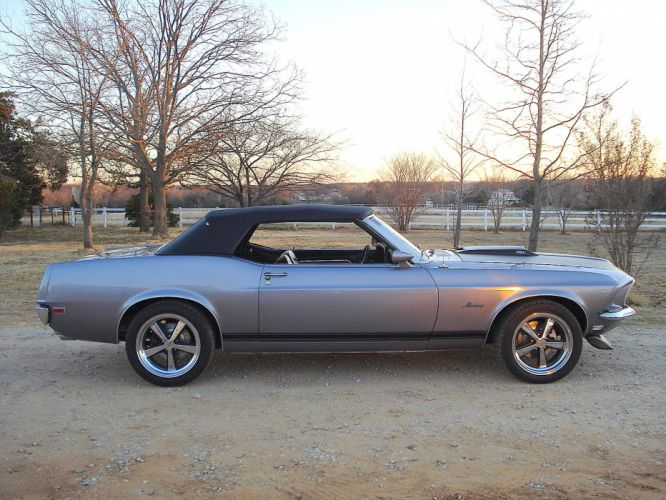 1969 Ford Mustang Convertible classic muscle hot rod rods s wallpaper