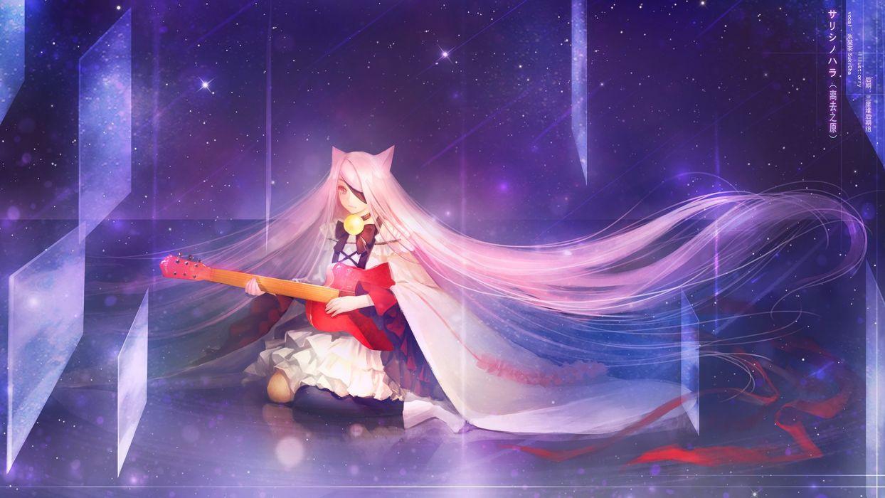 anime original girl beautiful cute pink ong hair hatsume miku wallpaper