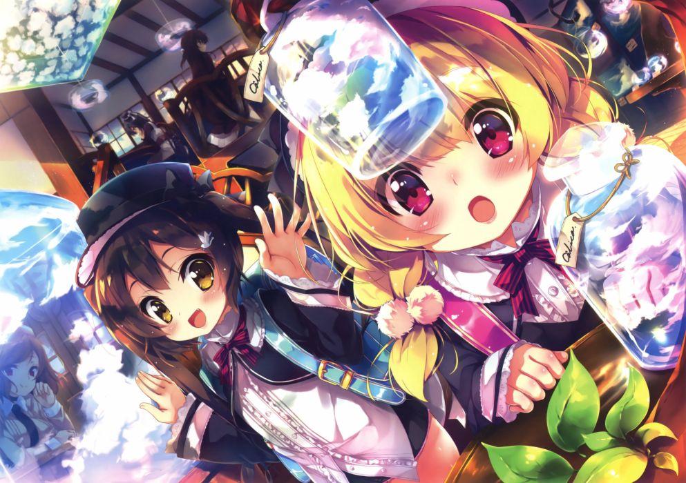 anime original girl beautiful cute magic wallpaper