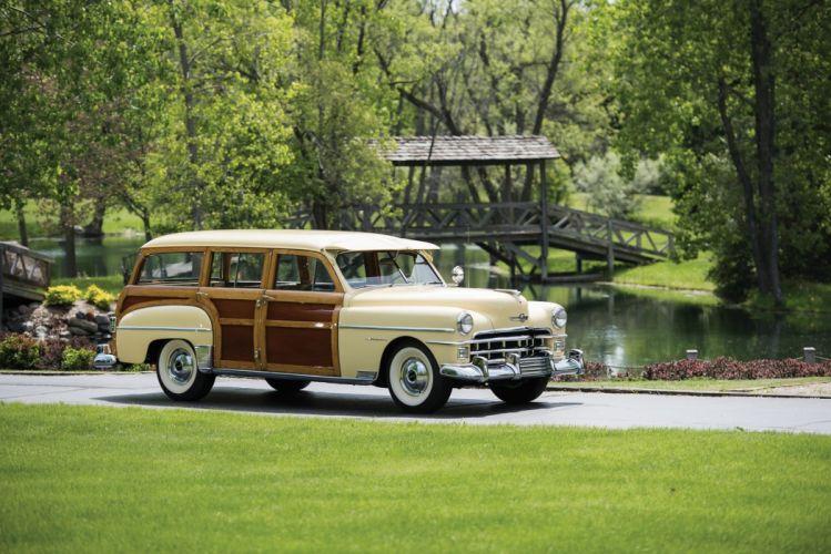 1950 Chrysler Royal Town Country Station Wagon classic cars wallpaper