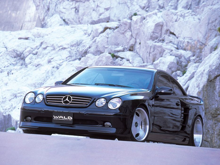 WALD Mercedes Benz CL60 cars coupe black modified wallpaper