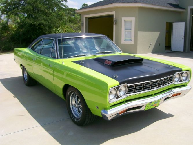 1968 Plymouth Roadrunner muscle classic 440 d wallpaper