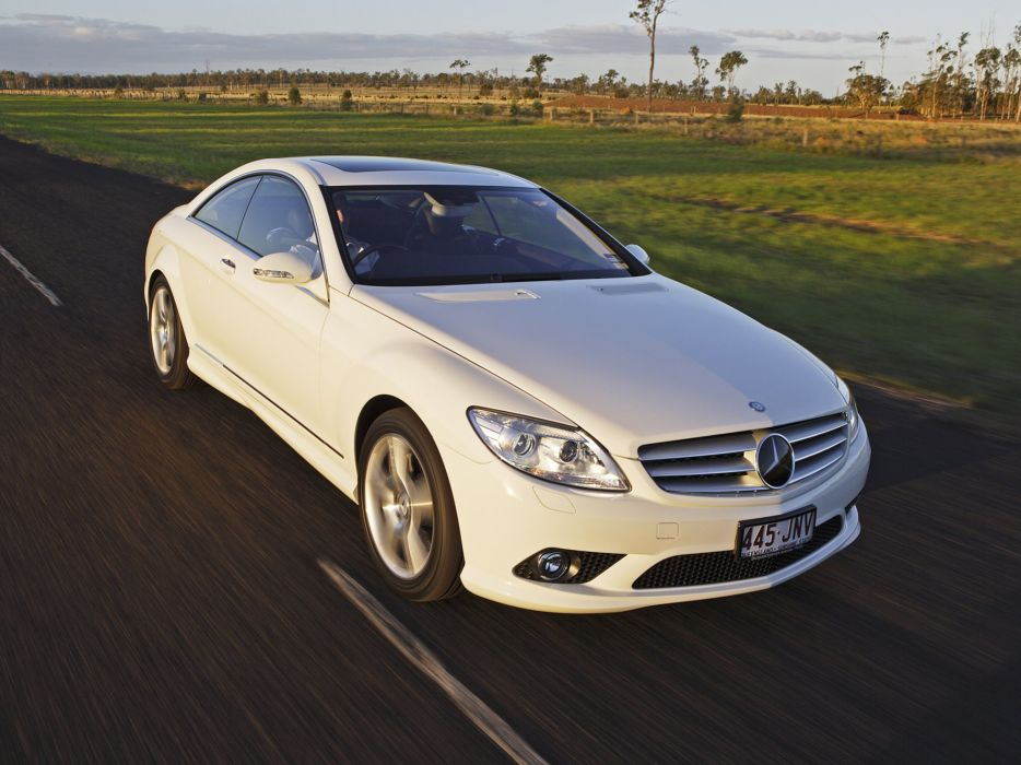 Mercedes Benz CL 500 AMG Sports Package AU-spec C216 2007 cars coupe white wallpaper