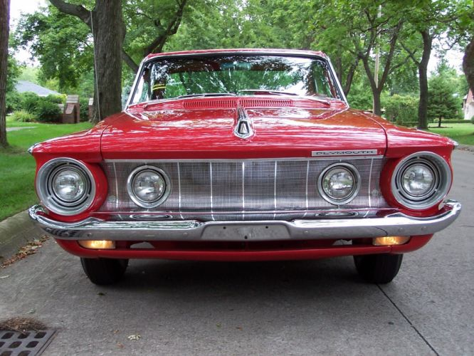 1962 Plymouth Golden Commando Fury muscle classic d wallpaper