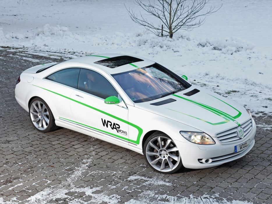 2013 Wrap Works Mercedes Benz CL 500 cars coupe white modified wallpaper