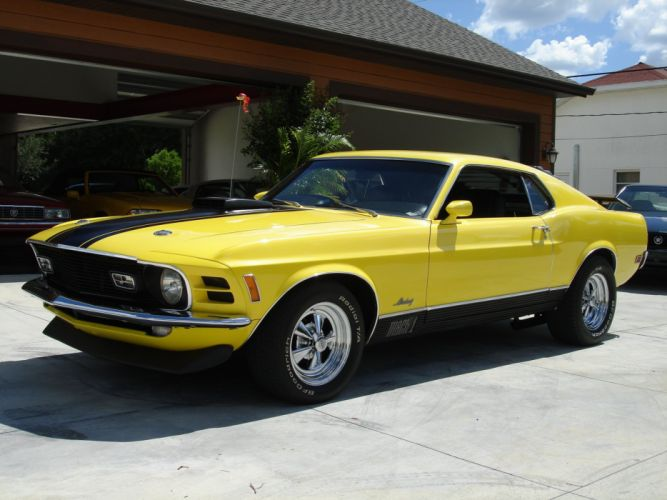 1970 Ford Mustang Mach-I muscle classic hot rod rods d wallpaper