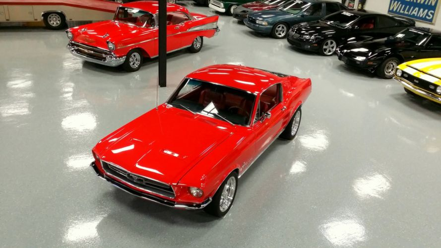 1967 FORD MUSTANG FASTBACK muscle classic 390 hot rod rods f wallpaper