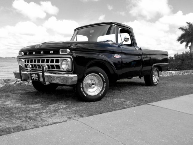 1965 Ford F-100 Pickup classic 428 cobra jet d wallpaper