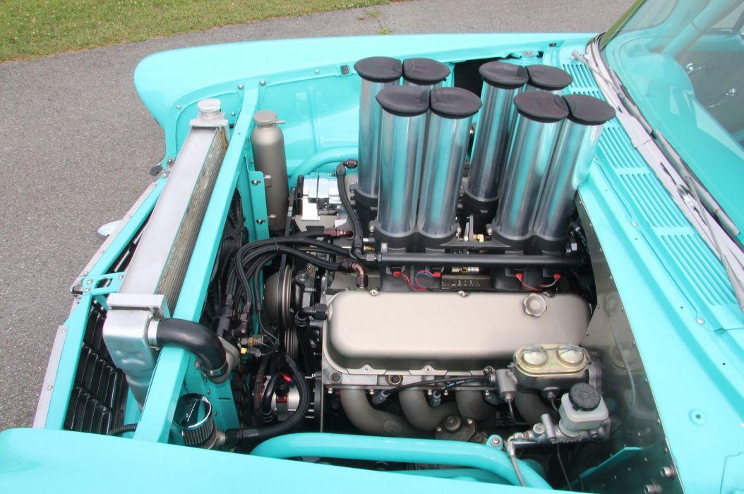 1956 Chevrolet Chevy Bel Air Coupe Hardtop Streetrod Street Rod Pro Hot Drag USA -06 wallpaper