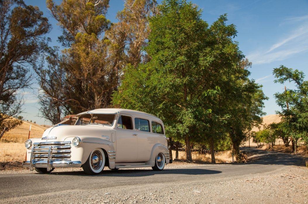 1949 Chevrolet 3100 Suburban Hot Rod Custom Old School USA -01 wallpaper
