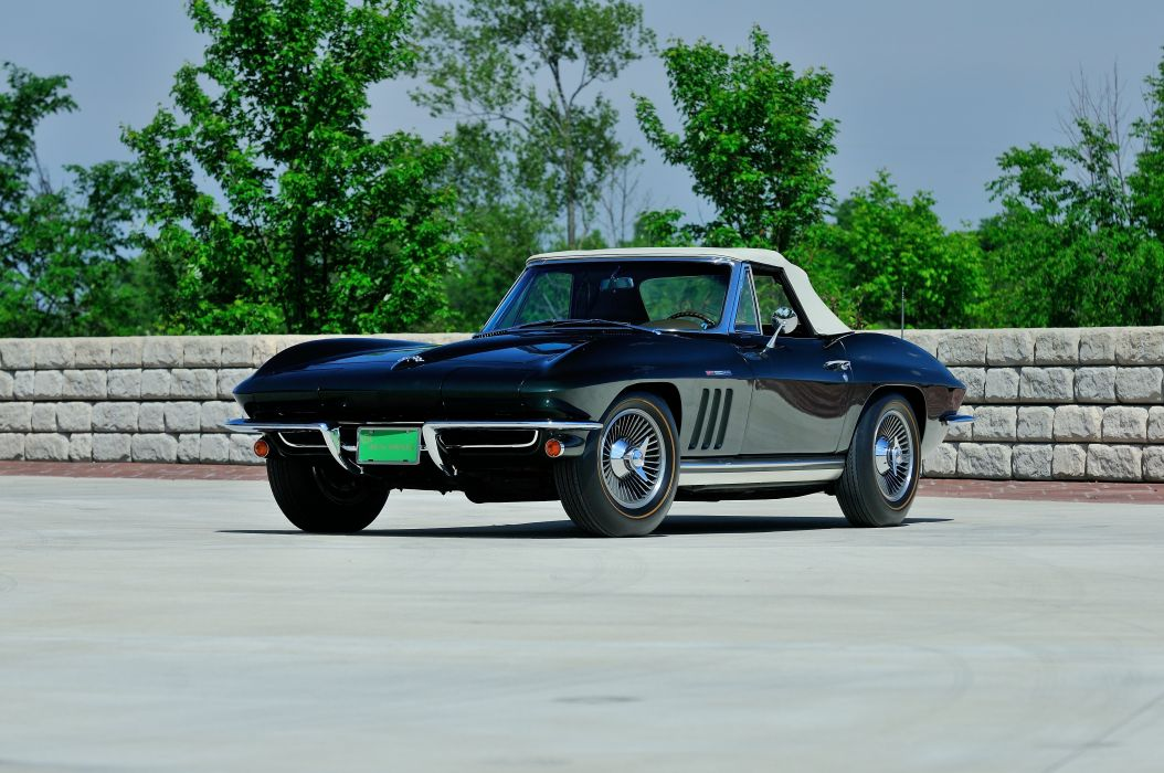 1965 Chevrolet Corvette Stingray Ating Ray Muscle Convertible Classic Old Original USA -01 wallpaper