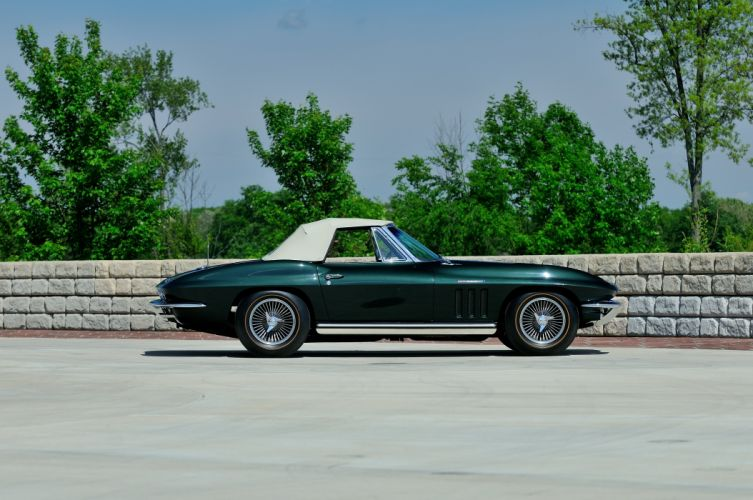 1965 Chevrolet Corvette Stingray Ating Ray Muscle Convertible Classic Old Original USA -02 wallpaper