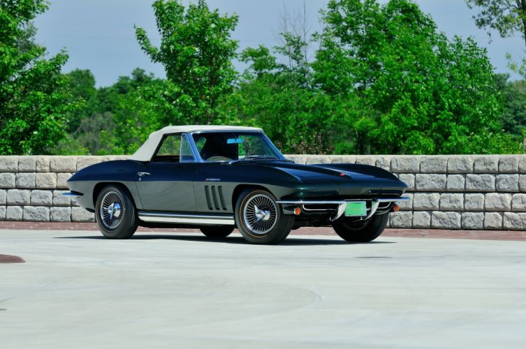 1965 Chevrolet Corvette Stingray Ating Ray Muscle Convertible Classic Old Original USA -12 wallpaper