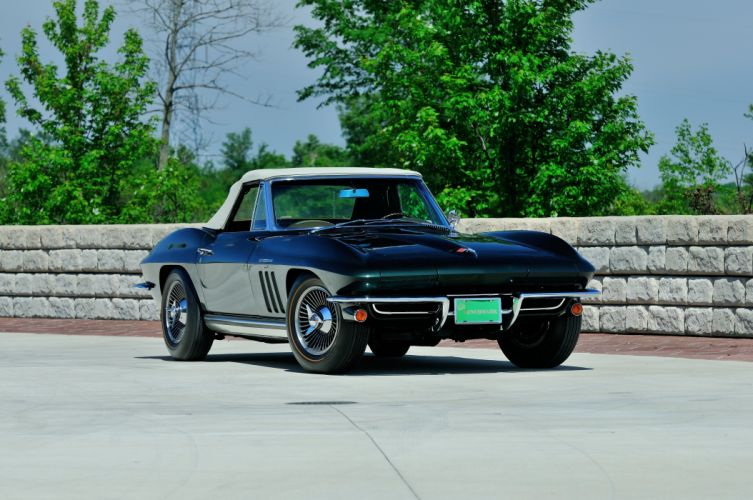 1965 Chevrolet Corvette Stingray Ating Ray Muscle Convertible Classic Old Original USA -33 wallpaper