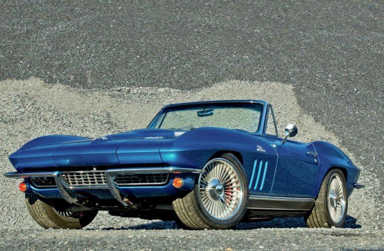 1966 Chevrolet Chevy Corvette Stingray Sting Ray Resto Mod Street Rod USA -02 wallpaper